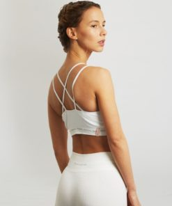 cotton bra yoga matrika white