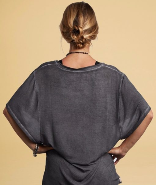 tee shirt yoga ample butterfly gris