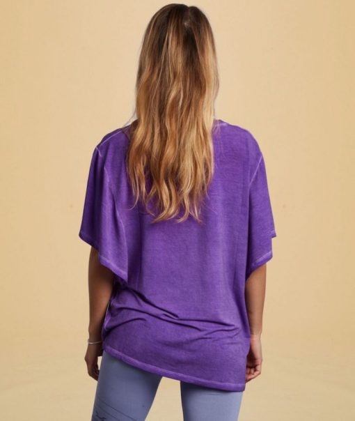 tee shirt yoga ample papillon butterfly orchid violet