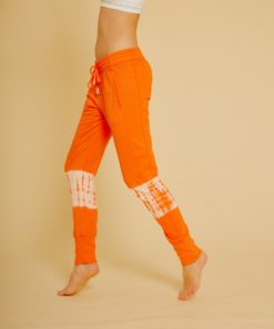 pantalon yoga coton racine orange