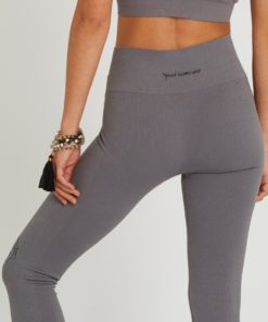 cotton legging woman yoga shanti dolphin grey