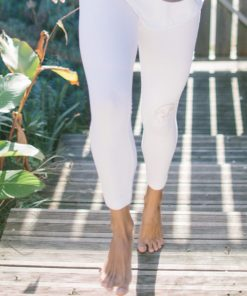cotton legging woman yoga shanti white