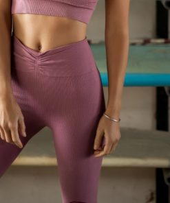 cotton legging woman yoga shanti malaga pink