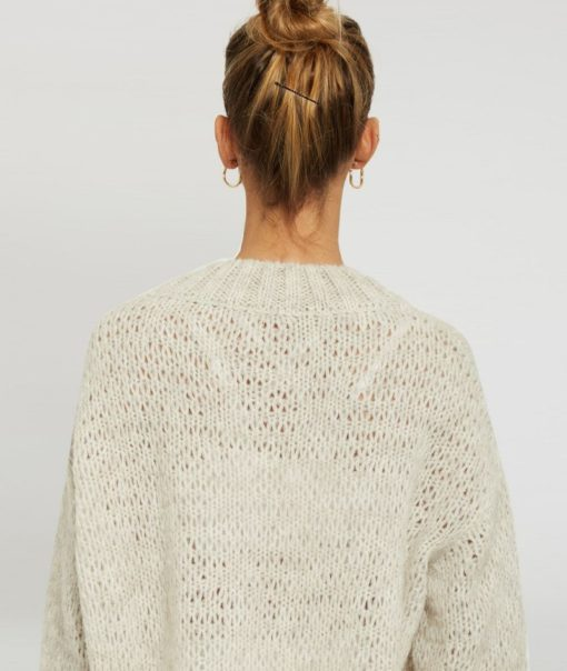 pull maille yoga searcher ghandi cream beige