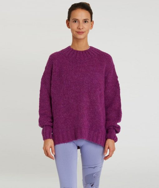 pull maille yoga searcher ghandi orchid violet
