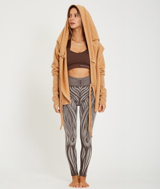legging yoga wild moka marron