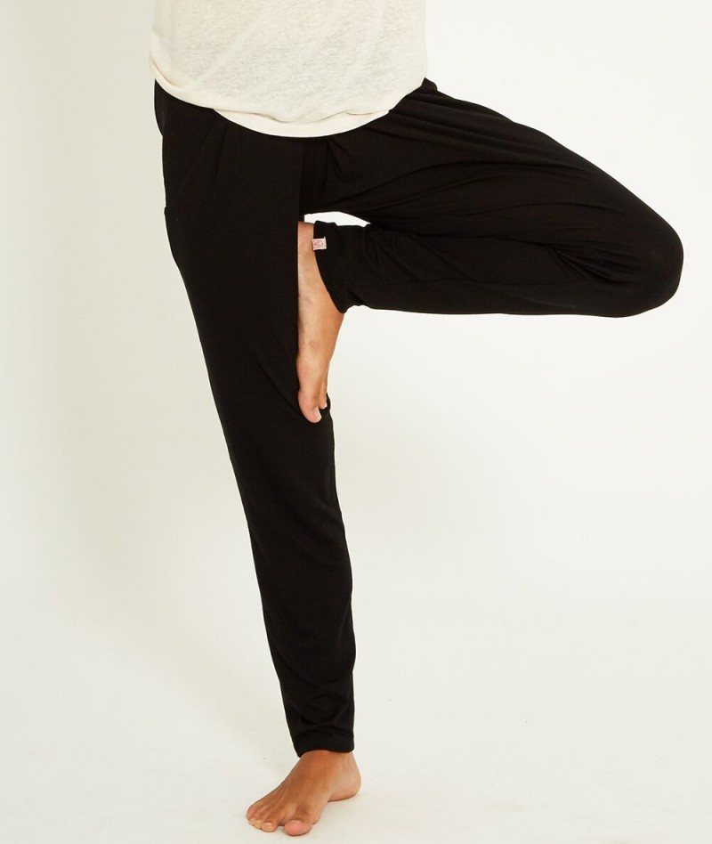 Yoga Searchermoksha Deep Blackpantalon Lyocell Wellness Studios