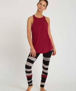 flowing tank top yoga nomad rubis red