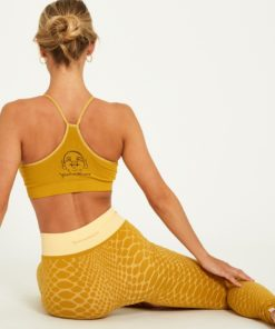 legging jacquard yoga comfort waves curry yellow