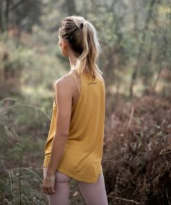 flowing tank top yoga nomad curry yellow