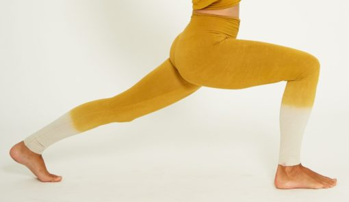 legging yoga bambou rishikesh jaune moutarde