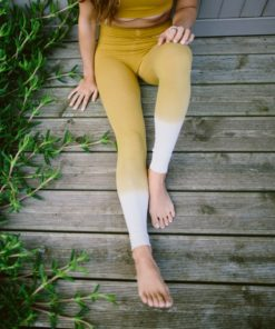 bamboo legging yoga rishikesh curry yellow