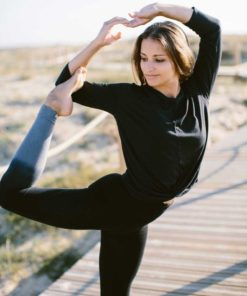 bamboo legging yoga rishikesh black