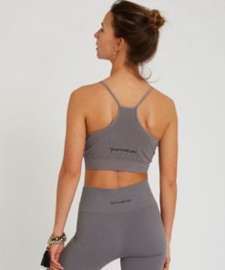 cotton bra yoga satnam dolphin grey