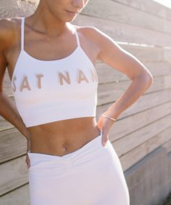 cotton bra yoga satnam white
